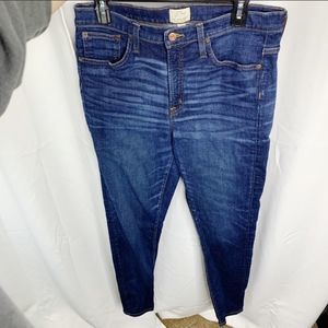 J. Crew highrise toothpick 32t jeans